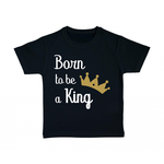 tshirt-enfant-noir-born-to-be-a-king