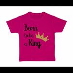 tshirt-enfant-rose-born-to-be-a-king