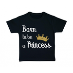 tshirt-enfant-noir-born-to-be-a-princess