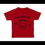 tshirt-enfant-rouge-caractère-de-cochon
