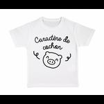 tshirt-enfant-blanc-caractère-de-cochon