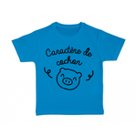 tshirt-enfant-bleu-caractère-de-cochon