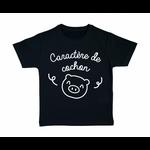 tshirt-enfant-noir-caractère-de-cochon