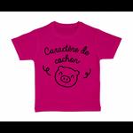 tshirt-enfant-rose-caractère-de-cochon