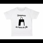 tshirt-enfant-blanc-shoppeuse-mère-fille