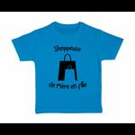 tshirt-enfant-bleu-shoppeuse-mère-fille