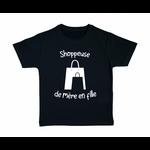tshirt-enfant-noir-shoppeuse-mère-fille