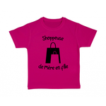 tshirt-enfant-rose-shoppeuse-mère-fille