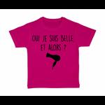 tshirt-enfant-rose-oui-je-suis-belle