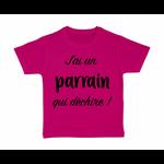 tshirt-enfant-rose-jai-un-parrain-qui-dechire