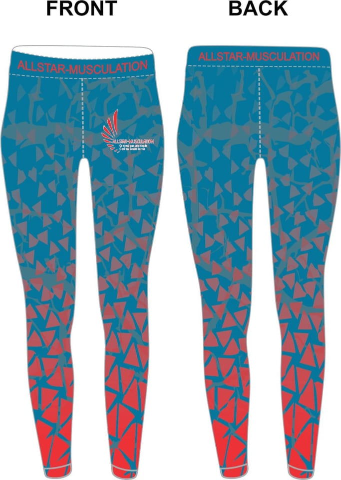 Leggings ALLSTAR TRIANGLE BLEU ROUGE