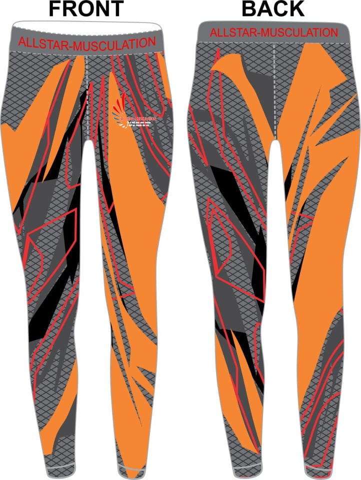 Leggings ALLSTAR ORANGE GRIS