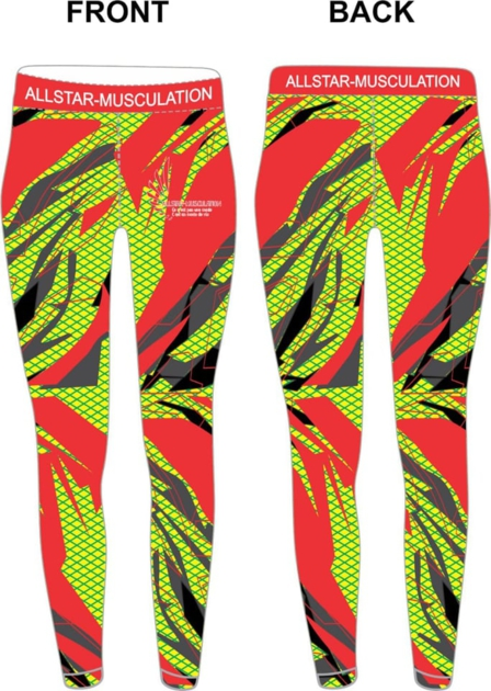 Leggings ALLSTAR JAUNE ORANGE