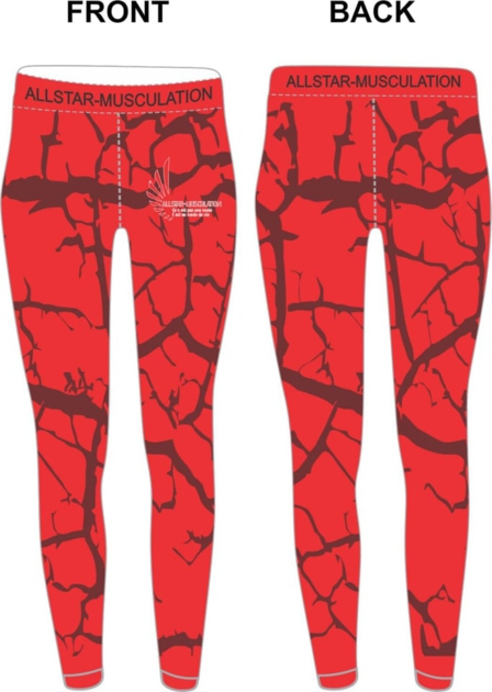 Leggings ALLSTAR ROUGE ÉCLAIR