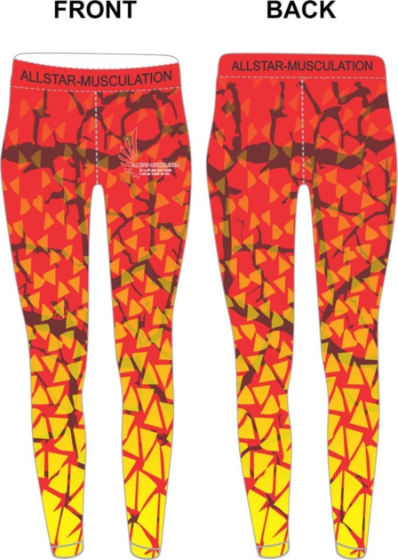Leggings ALLSTAR TRIANGLE JAUNE