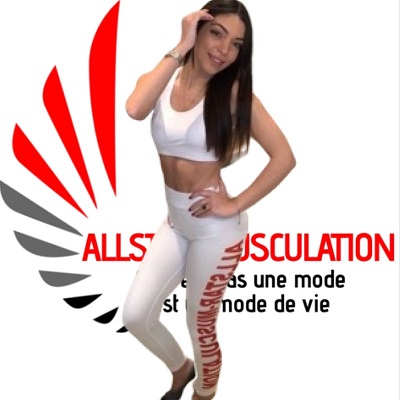Ensemble leggings brassière ALLSTAR Blanc