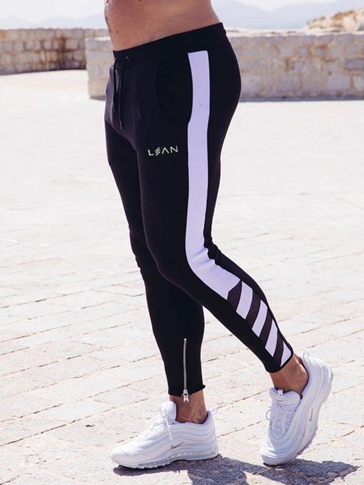 Jogging slim bandes