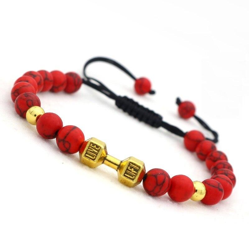 Bracelet haltère perles3