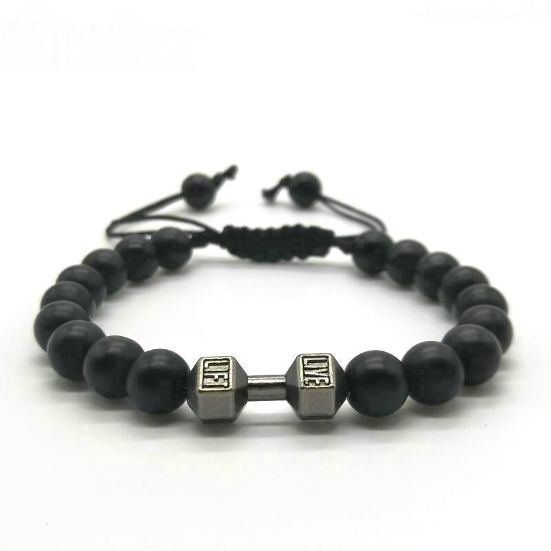 Bracelet haltère perles4