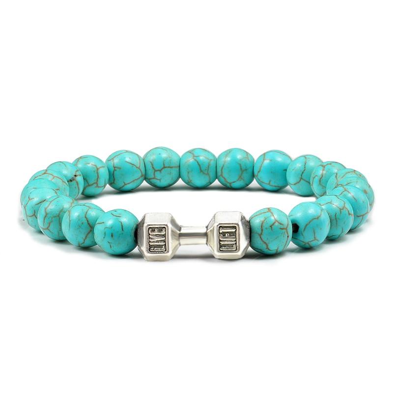 Bracelet Haltère perles1