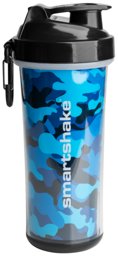 SmartShake Shaker Double Camo Blue 750 ml