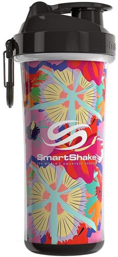 SmartShake Shaker Double TROPICAL RED 750 ml