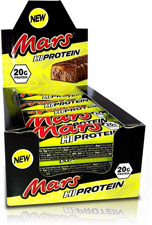 Barres protéinées Mars Hi Mars 12 barres de 59 G