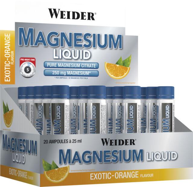 Liquide de magnésium - 20 x 25 ml