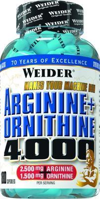 Arginine Ornithine 4000 180 capsules