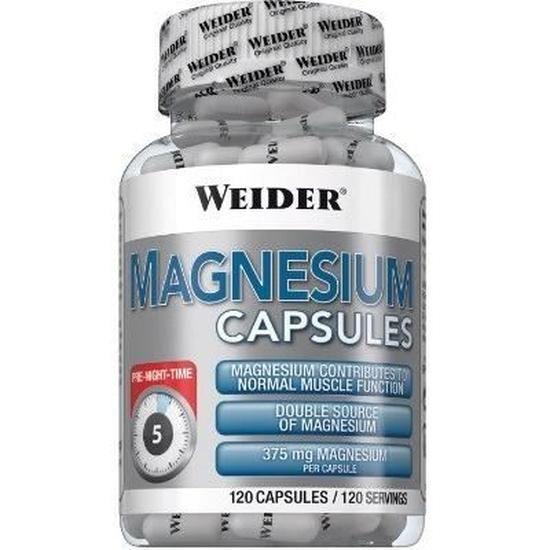 Weider  Capsules de magnésium - 120 capsules