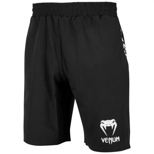 Short d\'entraînement Venum Classic Noir logo Blanc