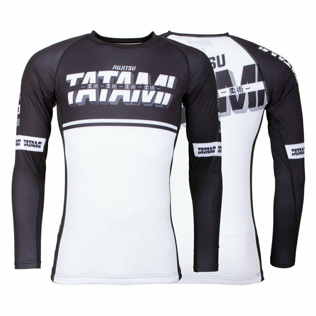 Fightwear Burnout Rash Guard Tatami manches longues Noir et Blanc