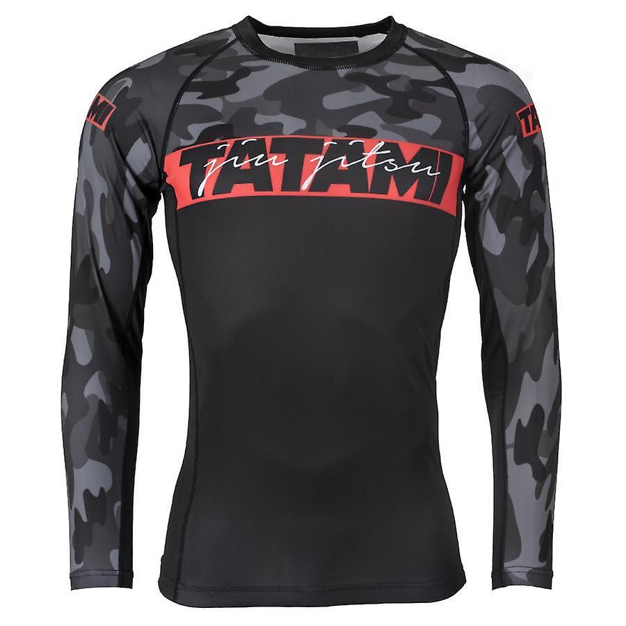 Fightwear Red Bar Rash Guard manches longues Tatami Noir et Camo