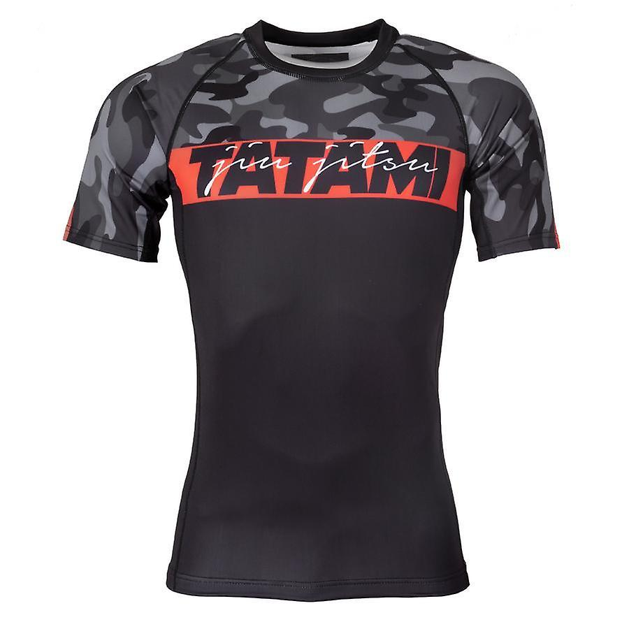 Fightwear Red Bar Rash Guard Manches Courtes Noir et Camo