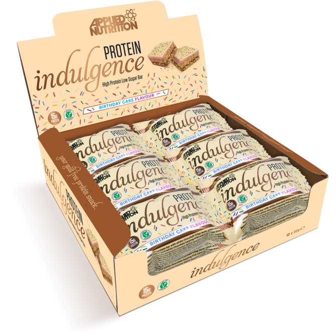 12 Barres Protein Indulgence de 50G Applied Nutrition