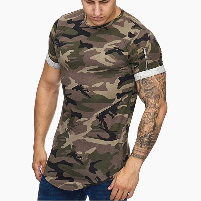 T-shirt cam col rond