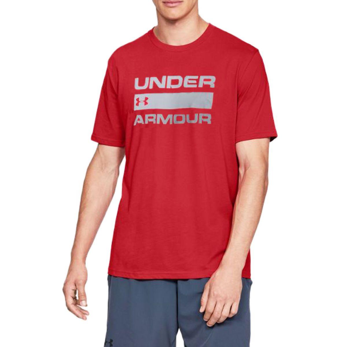 T-shirt Under Armour Team Issue Wordmark Rouge