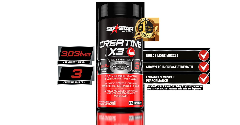 Créatine X3 Six Star Pro Nutrition