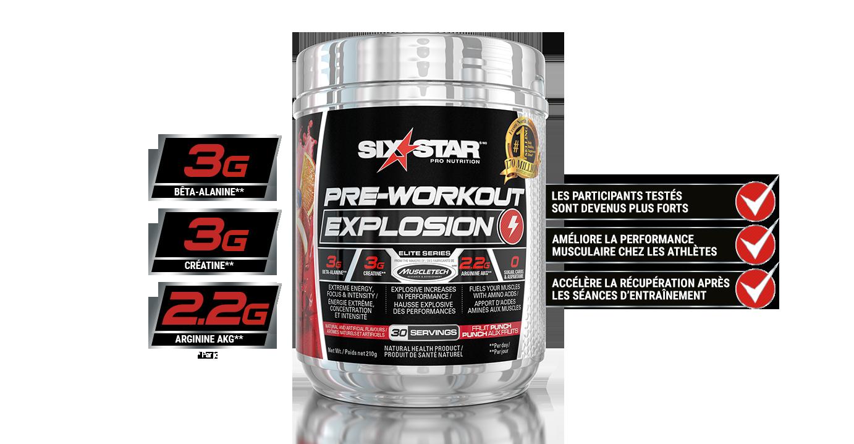 Six Star Pro Nutrition Explosion pré-entraînement