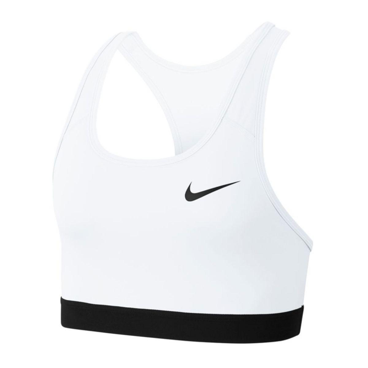 Brassière de sport Nike Swoosh blanc