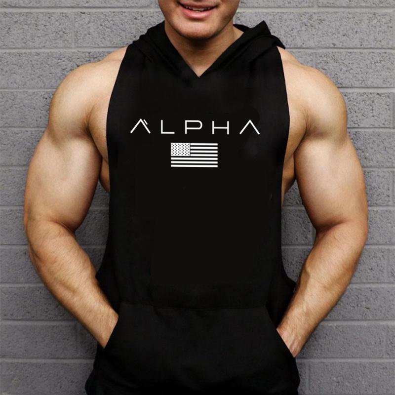 Débardeur Alpha à capuche dos nageur