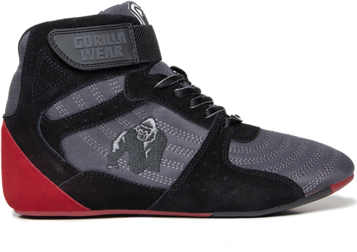 Perry High Tops Pro Gris Noir Rouge Gorilla Wear
