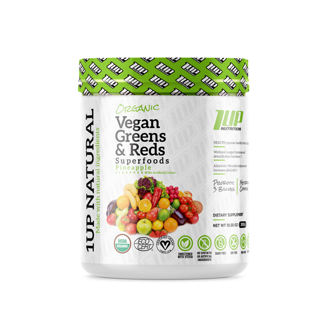 Organic vegan green and reds 1UP NUTRITION