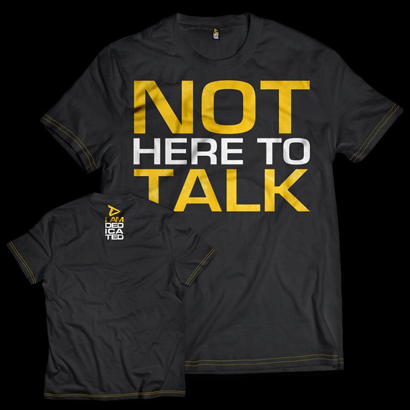 T-shirt Dedicated Pas ici pour parler