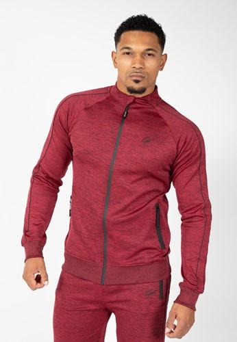 Wenden Track Jacket Bourgogne rouge Gorilla Wear