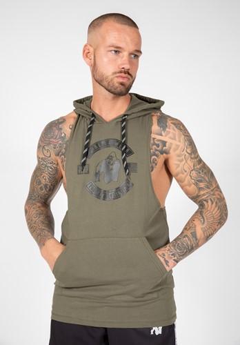 Lawrence Hooded Tank Top Vert Gorilla Wear