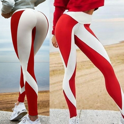 Leggings bandes blanches