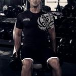 GYMKING-T-shirt-Hommes-Coton-Manches-Courtes-T-shirt-D-o-Cou-de-Haute-Qualit-Hip