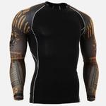 Nouvelle-Chemise-De-Course-Hommes-Cr-ne-Sport-T-shirt-Gym-Chemise-Hommes-Compression-Serr-top