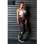 Femmes-Leggings-taille-haute-maille-Pacthwork-sport-leggings-grande-taille-noir-salle-de-sport-Fitness-lettre